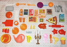 Barbie Vintage Mixed Accessory Lot Food,Candlesticks Dollhouse Style Miniatures