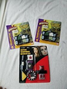 LOT of 3 Halloween Makeup Paint Zombie Vampire Gothic Monster