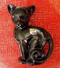 VINTAGE ROYAL HAEGER-- #501-- ART DECO BLACK CAT PLANTER VASE--- USA