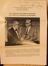 Dr. Philip Levine Signed Pamphlet 1965 Dr. Elias Cohen Hematologist Blood
