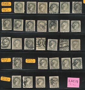 lac17 etiangui Lot Canada 1870-89 Sc#38, 38a   Sc$520.00