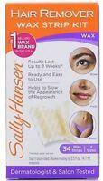 Sally Hansen Hair Remover Wax Strip Kit For Face, Eyebrows - Bikini Area 1 kit
