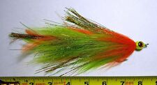 Articulated Miller Muskie  Orange/ Chartreuse - Double 5/0 Hooks