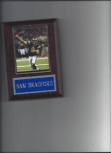 SAM BRADFORD PLAQUE ST. LOUIS RAMS FOOTBALL NFL