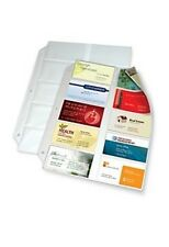 Office Depot Business Collection Card File Binder Refill Pages, Pack Of 10