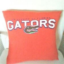 UNIVERISTY OF FLORIDA tee shirt pillow cover repurposed fits 15x15 inch pillow