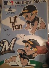 Milwaukee Brewers Multi Use Decal Reusable Little Fan Nursery Baseball Baby Boy