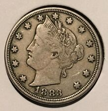 """1883 NO / CENTS' Liberty """"V"""" Nickel   ^^ EXTREMELY FINE ^^  135 YRS OLD   3543"""