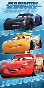 Disney Cars Lightning McQueen Cruz Storm Kids Children Beach Towel