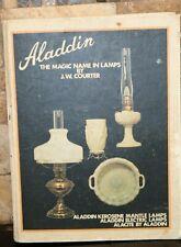 SIGNED! Aladdin the Magic Name in Lamps 1971 Kerosene Mantle Alacite Electric