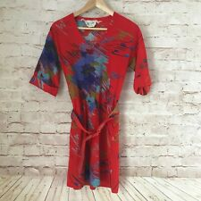 New listing Gorgeous Women's Vtg Jack Slote Las Vegas Dress Belted Red Floral Vintage