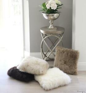 Genuine AUSTRALIAN Sheepskin Pillow Bedroom Living Room Sofa Floor Cushion.
