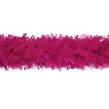 "TURKEY BOA - FUSCHIA 2 Yards 6-8"" Feathers 150 Grams; Halloween/Costume/Bridal"