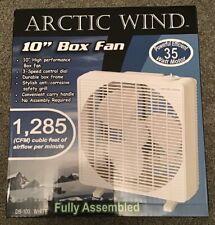 """Arctic Wind 10"""" Box Fan 3 Speed"""