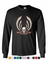 Live to Ride Old School Long Sleeve T-Shirt Biker Route 66 Ride to Live MC Tee
