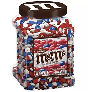M&M'S Red White Blue Patriotic Mix Milk Chocolate Candy, 62 oz Pantry Jumbo