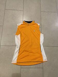 PEARL IZUMI LADIES CYCLING Sleeveless Zipper Top White And Orange XL