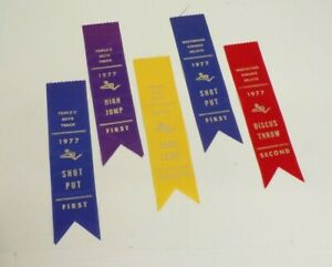 1976-77 Boys Track First Place Ribbons lot of 13