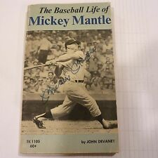 MICKEY MANTLE AUTOGRAPHED BOOK 1969 1STPRINT THE BASEBALL LIFE OF MICKEY MANTLE