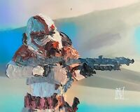 ORIGINAL Abstract Clone Shock Trooper Stormtrooper Star Wars Wall Art Painting