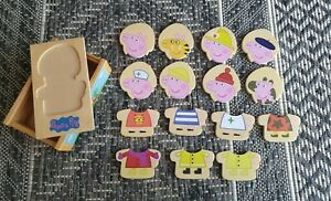 PEPPA PIG Wooden Dress Up Puzzle - Wooden Box - 15 pieces - 2003
