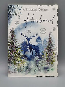 Husband Christmas Card, Just for you Husband With Love Xmas Card Merry Christmas