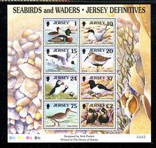 JERSEY 785a, 1997 BIRDS, S/S OF 8, MNH (JER039)