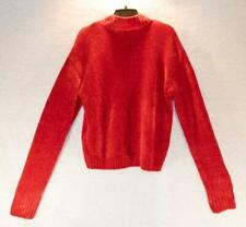 Sanctuary Chenille Mock Neck Sweater (Party Red) Large