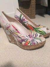 Ed Hardy Wedge Sandals Size 8