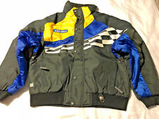 Mens Ski-Doo Snowmobile Winter Jacket Size L Bombardier X-Team Royal & Yellow