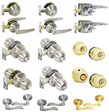 Entry Door Lock Set W/ 3 Keys Home Entrance Knob Lever Handle Deadbolt