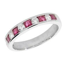 Anelli di lusso con gemme rosse anniversario Diamante