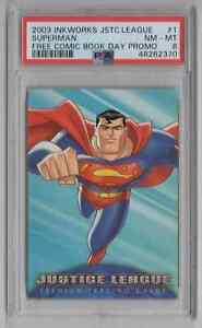 2003 Inkworks Justice League Free Comic Book Day Promo #1 Superman PSA 8 NM-MT