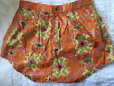 Beautiful Silky Oriental Floral High Waisted Vintage Shorts Sz 6