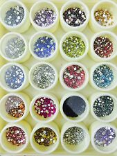 Nail art kit 20 jars of rhinestones. Different shapes,sizes,colors.Gift Birthday