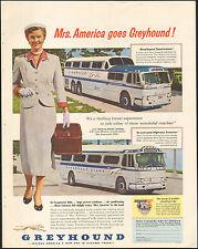 1953 vintage Ad Mrs. America Rides Greyhound Bus Lines Scenicruiser 032616