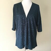 LulaRoe Women's Boho Fish Scale Size Small Kimono Cardigan Open Front