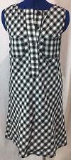 Black Plaid Small Shirt Dress Short Maxi S Button Up White Check Max Studio New