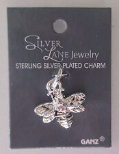 BB Queen Bee SILVER LANE Charm Sterling plated Ganz bumble bumblebee