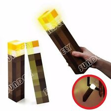 Minecraft Light Up Mountable Wall Night Torch Lamp Kids Fun Toy Gamer Gift