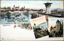 1908 Rapperswil Postcard: St. Gallen, See-Gaster, Switzerland