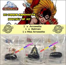 HEROCLIX DC 2015 ARROWETTE MONTHLY OP KIT - Arrowette + Batman + Miss Arrowette