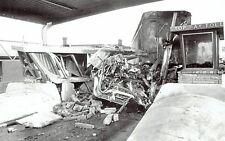 1970 Wire Photo auto crash wreck at turnpike toll both in Wichita Kansas kills 2