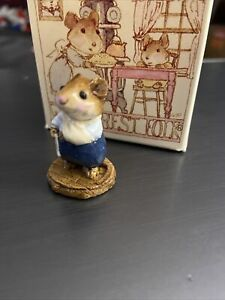 Wee Forest Folk M-096 Get Well Soon!  Mouse In Arm Sling - Very Rare- 1983