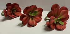 Pier 1 Set Red Flower Napkin Rings Set of 3 Super Cute Napkin Holders New 5�