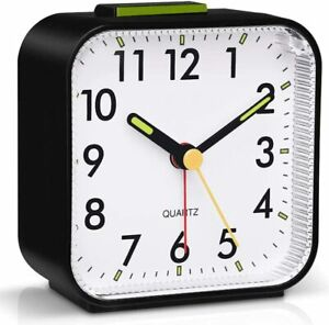 Silent Alarm Clocks Bedside Non Ticking Battery Loud Alarm for heavy sleepers