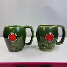 McCoy Green Coffee D.O.M. Mugs Cups Benedictine D.O.M. Liqueur Promo Lot Of 2