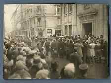 France, Le Départ du Président Gaston Doumergue  Vintage silver print.  Tirage