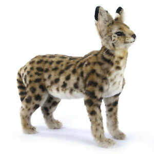 African Serval Cat Realistic Hansa Soft Animal Plush Toy 48cm **FREE DELIVERY**