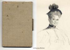 Skizzenbuch von Mary Lüdecke 40 Zeichnungen von 1891